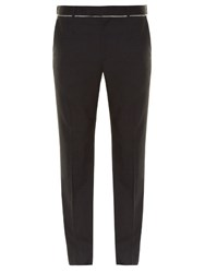 Alexander Mcqueen Slim Fit Raw Edge Trousers Charcoal