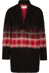 Thakoon Plaid Wool Blend Jacket Black