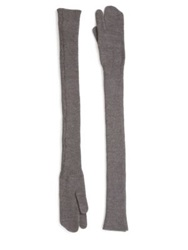 Maison Martin Margiela Long Wool Gloves 30 Grey Black
