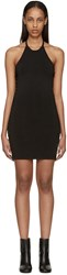 Balmain Black Knit Halter Dress