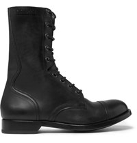 Alexander Mcqueen Leather Boots Black