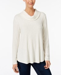Styleandco. Style Co. Ribbed Cowl Neck Knit Top Only At Macy's Warm Ivory
