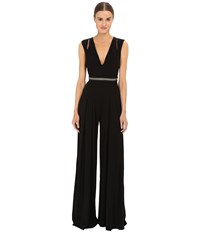 Just Cavalli Solid Jersey T Back Jumpsuit Black Women's Jumpsuit And Rompers One Piece