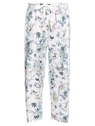 Adam By Adam Lippes Cuban Forest Print Cotton Twill Trousers