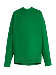 Marques Almeida Oversized Wool Blend Sweatshirt Green