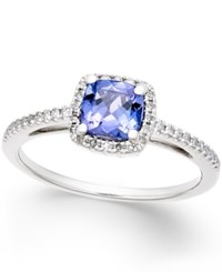 Macy's Tanzanite 5 8 Ct. T.W. And Diamond 1 8 Ct. T.W. Ring In 14K White Gold