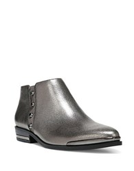 Fergie Indigo Leather Bootie Pewter