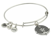 Alex And Ani Anchor Expandable Charm Bangle Rafaelian Silver Finish Bracelet