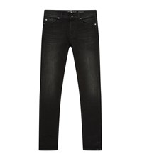 7 For All Mankind Ronnie Skinny Jeans Male Black