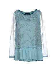 Twin Set Simona Barbieri Blouses Sky Blue
