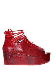 Marsell 60Mm Crackled Patent Leather Wedges
