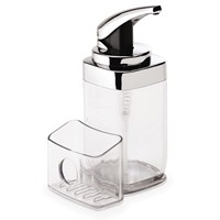 Simplehuman Square Chrome Push Pump Soap Dispenser With Caddy