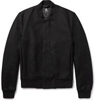 Paul Smith P By Mith Wool Blend Bomber Jacket Black