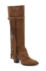 Andre Assous Women's 'Faelynn' Fringe Boot Brown Suede