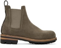 Feit Green Suede Chelsea Boots