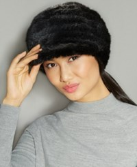 The Fur Vault Knitted Mink Hat Black