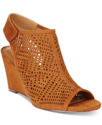Styleandco. Style And Co. Heatherr Wedge Sandals Only At Macy's Women's Shoes Rust Brown