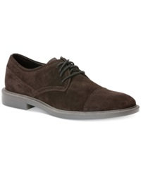 Calvin Klein Upton Suede Oxfords Men's Shoes Dark Brown