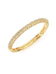 Adriana Orsini Pave Crystal Flower Bangle Bracelet Gold