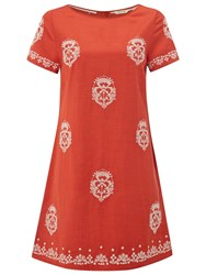 White Stuff Deco Tunic Indian Orange