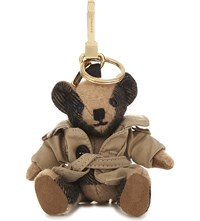 Burberry Thomas Bear Check Cashmere Charm With Coat 12Cm Camel