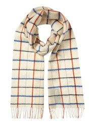 Barbour Country Tattersall Scarf Blue