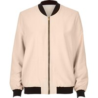River Island Womens Light Pink Bomber Jacket