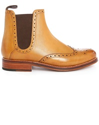 Grenson Jacob Amber Boots With Floral Toe