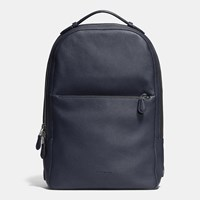 Coach Metropolitan Soft Backpack In Refined Pebble Leather Black Antique Nickel Midnight N