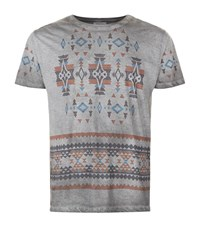 Valentino Washed Aztec T Shirt Male Grey