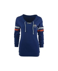 Antigua Women's Edmonton Oilers Foxy Sweatshirt Royalblue Orange