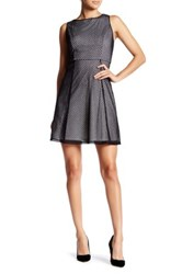 Adrianna Papell Netted Lace Dress Petite Black