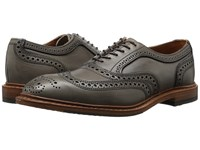 Allen Edmonds Neumok 2.0 Grey Leather Men's Lace Up Wing Tip Shoes Gray