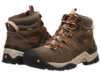 Keen Gypsum Ii Mid Waterproof Cornstock Gold Coral Women's Waterproof Boots Brown