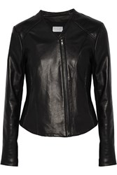 W118 By Walter Baker Kimberly Jersey Paneled Leather Jacket Black