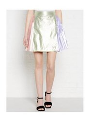 Just Cavalli Metallic Colour Block Skirt Green