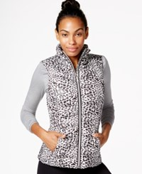 Betsey Johnson Print Puffer Vest Multi
