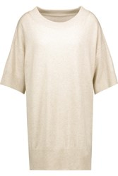 Maison Martin Margiela Mm6 Wool And Cashmere Blend Tunic Beige