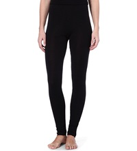Hanro Wool And Silk Blend Leggings Noir Noir