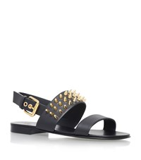 Giuseppe Zanotti Studded Leather Sandals Male Black