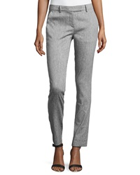 L.A.M.B. Stretch Skinny Pants Silver Gray