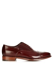 Paul Smith Berty Brushed Leather Brogues Brown