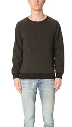 Billy Reid Dawson Reversible Crew Sweatshirt