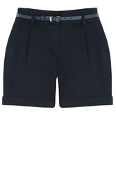 Oasis Casual Belted Short Navy