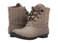 Sperry Saltwater Rope Emboss Neoprene Taupe Women's Lace Up Boots