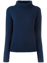 Vanessa Bruno Cowl Neck Jumper Blue
