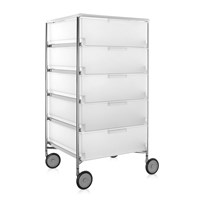 Kartell Mobil 5 Drawer Wheels Ice