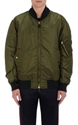 Burberry X Barneys New York Men's Oversized Insulated Bomber Jacket Dark Green