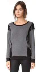Michi Blade Sweatshirt Heather Grey Black