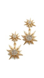 Elizabeth Cole Bianca Earrings Golden Crystal